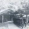 旧小浜警察署玄関前(昭和初期)
